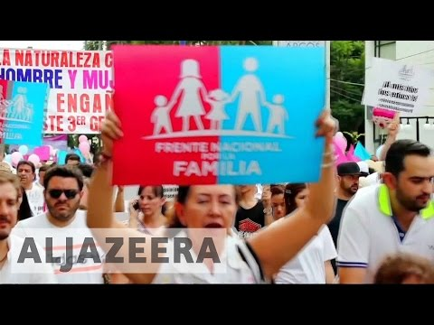 Mexicans march against gay marriage law