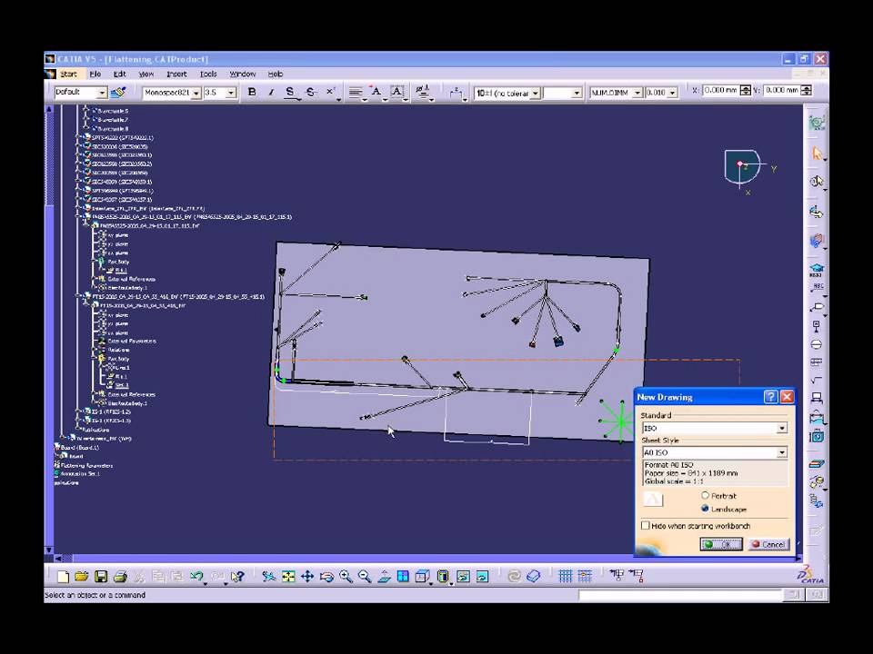 maxresdefault catia v5 electrical wire harness flattening (hfx) youtube wire harness design in catia v5 at bayanpartner.co