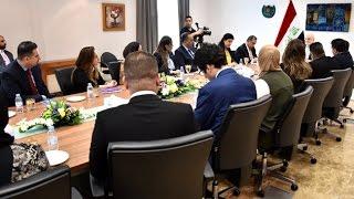 وزير الخارجية العراقي ابراهيم الجعفري وكادر قنصلية العراق في دبي بدولة الامارات العربية المتحدة