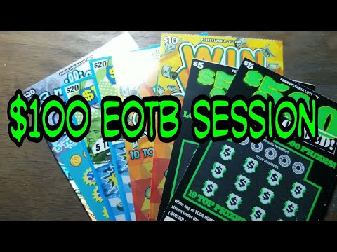 End of the Book. $100 Session. Lottery scratch tickets