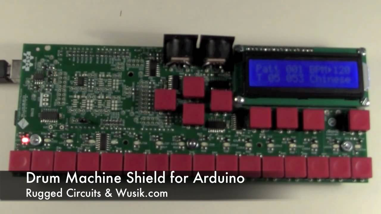 Arduino Drum Machine Demo #3 by RuggedCircuits