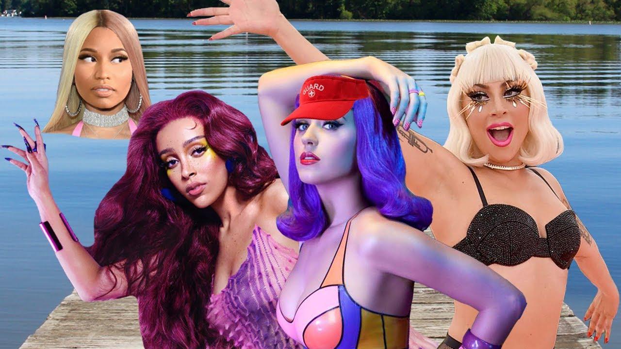 Celebrities Go Swimming w/ Doja Cat, Miley Cyrus, Blackpink & More