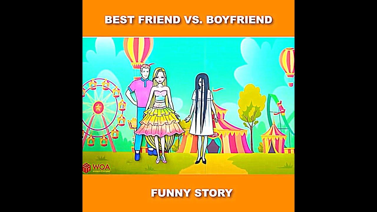 Bestfriend vs BoyFriend of Rapunzel #Shorts