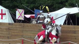 Jousting competition at Arundel Castle - August 2014