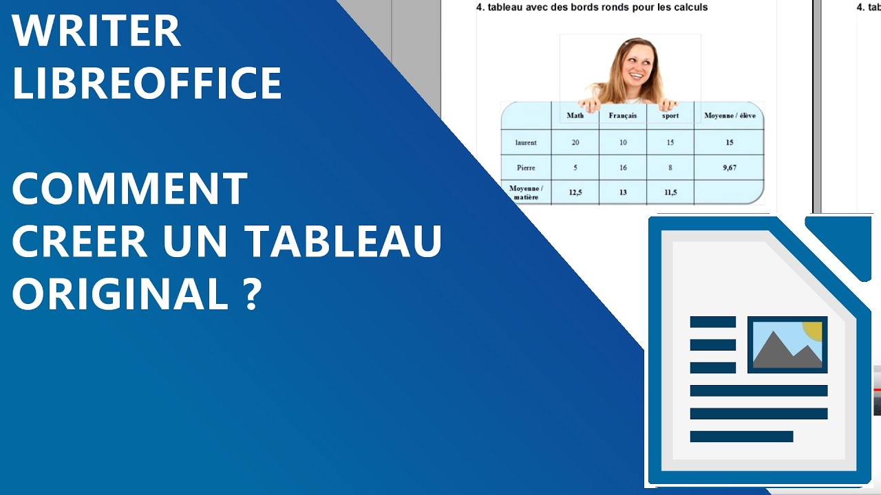 2 2 cr er des tableaux avec bords ronds writer openoffice - Comment faire un organigramme sur open office writer ...