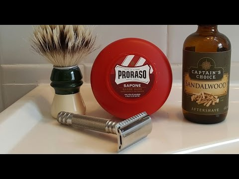 Traditional Wet Shaving - razor review Fendrihan Ambassador mkII with Proraso red
