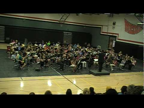 Southeast Iowa Jr. High Mass band performs Canticum by ...