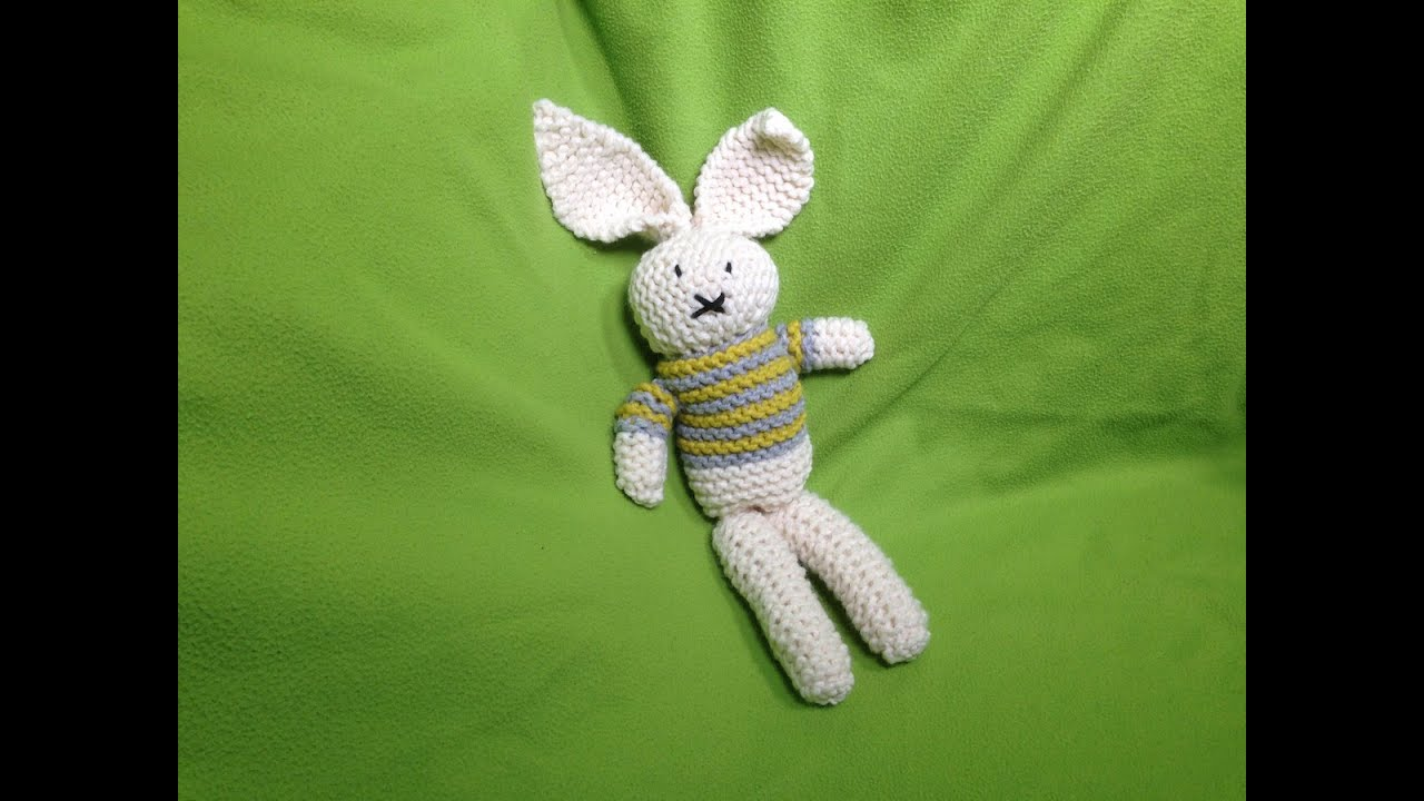 How to Loom Knit a Stuffed Bunny Toy (DIY Tutorial) - YouTube