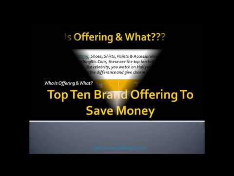 Top Ten Brand Offering To Save Money At ClothingRic