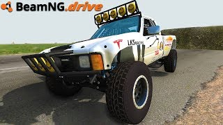 We Drive The Tesla Trophy Truck - BeamNG Drive