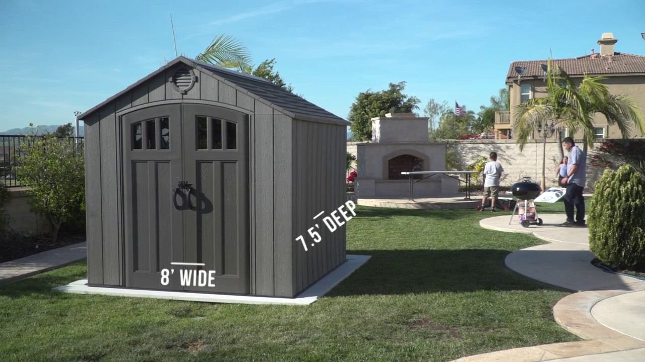 New Lifetime 8 X 7 5 Rough Cut Shed Model 60230 Youtube
