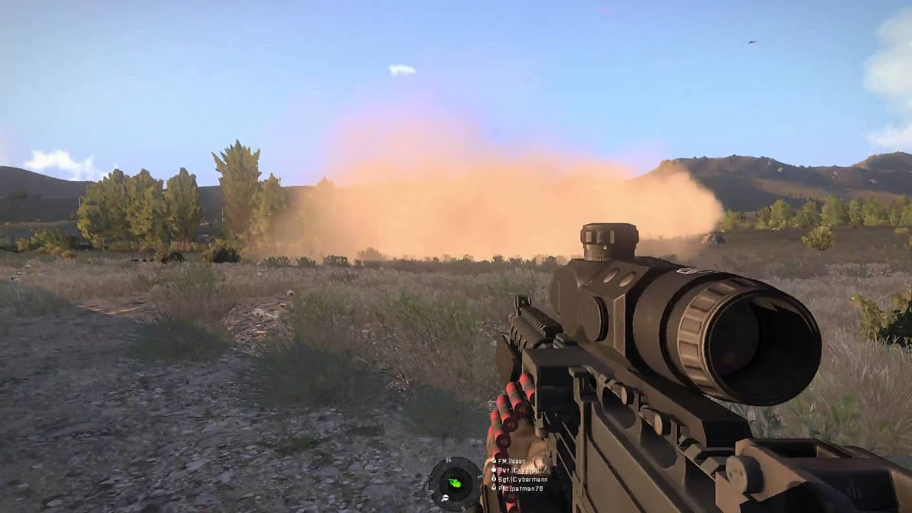 Reach Elite Forces -- ARMA 3: A10 gun-run overhead - YouTube