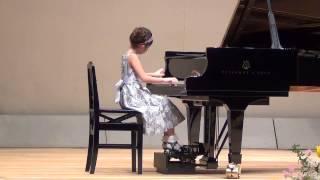 平成25年3月20日ピアノ発表会 市川ゆい キラキラ星変奏曲.