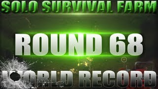 Farm Round 68 Solo World Record - High Round Strategy - Black Ops 2 Zombies (Gameplay/ Commentary)