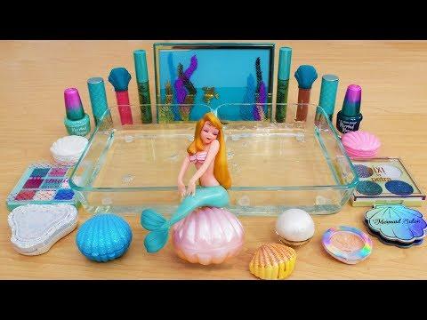Mermaid - Mixing Makeup Eyeshadow Into Slime Special Series 156 Satisfying Slime Video