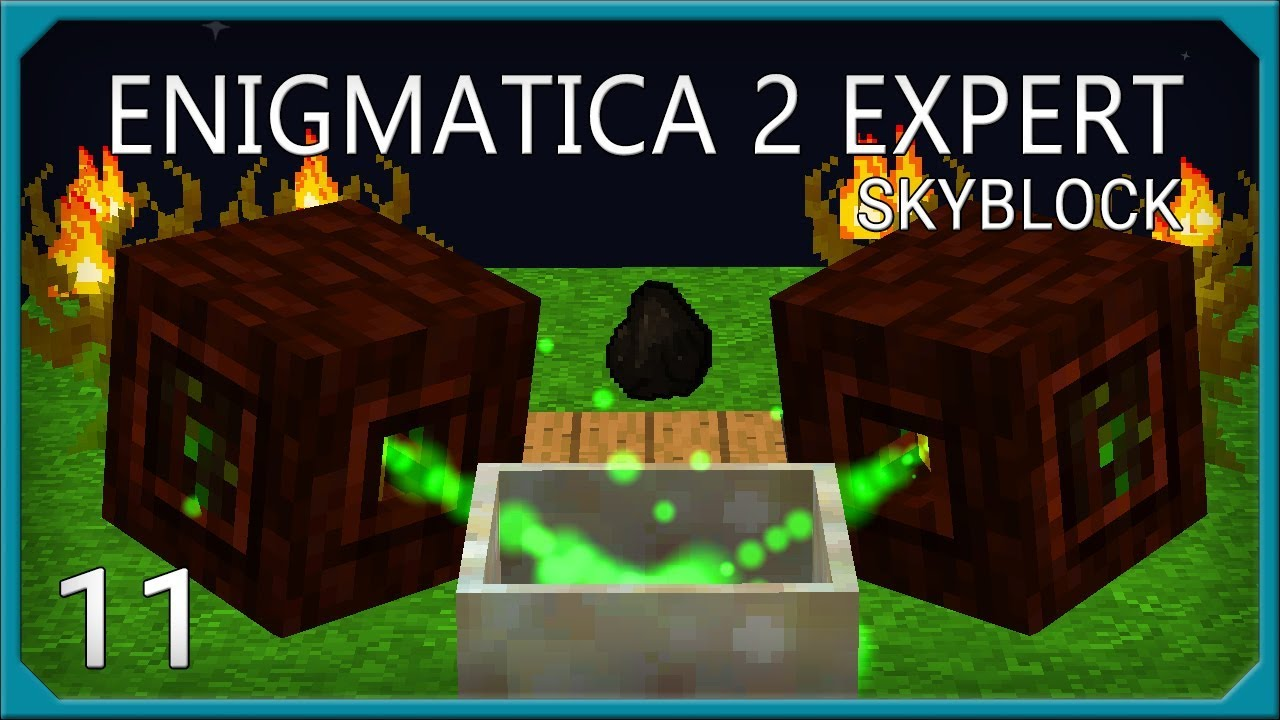 Enigmatica 2 Expert Skyblock EP11 Rock Crusher Automation + Starting Botania