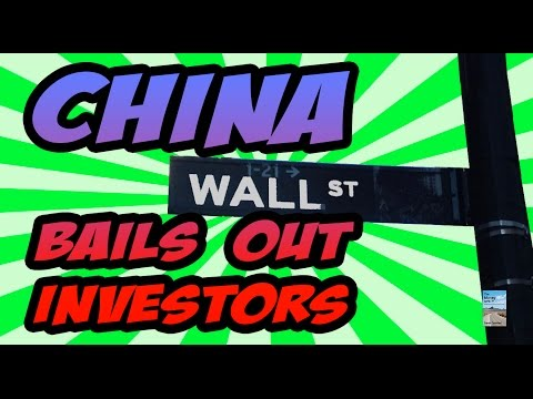 China Bail Out Investors to Prevent Stock Market CRISIS! Meltdown Cover Up!