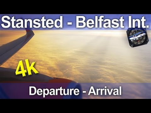 Stansted - Belfast International - Easyjet A320 - 4k