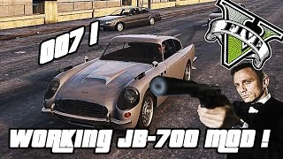 GTA V PC -  Working JB-700 MOD ! (James Bond Car w/ Guns , Spikes)