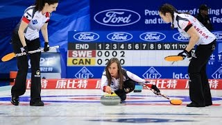 highlights sweden v canada cpt world women s curling championship 2017