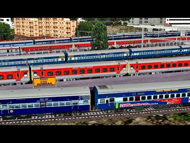 SHUNTING Howrah - Puri GARIBRATH Exp || KGP WDG3A Action || Howrah Junction || RailIndia Route