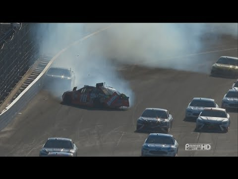 Monster Energy NASCAR Cup Series 2017. Indianapolis Motor Speedway. M. Truex Jr. & Ky. Busch Crash
