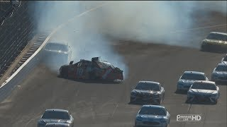 Monster Energy NASCAR Cup Series 2017. Indianapolis Motor Speedway. M. Truex Jr. & Ky. Busch Crash