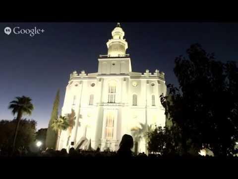 St. George LDS Temple lighting ceremony
