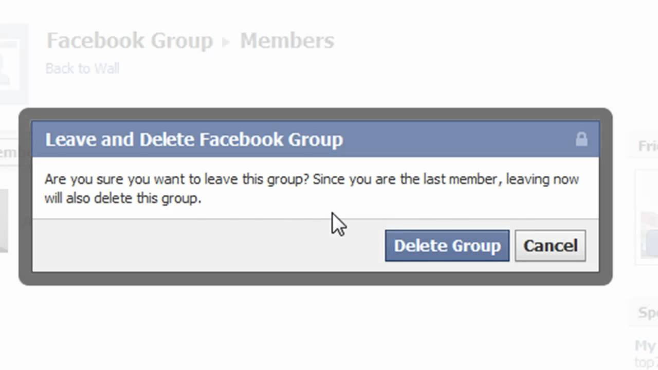 How To Delete A Facebook Group  Delete Facebook Group
