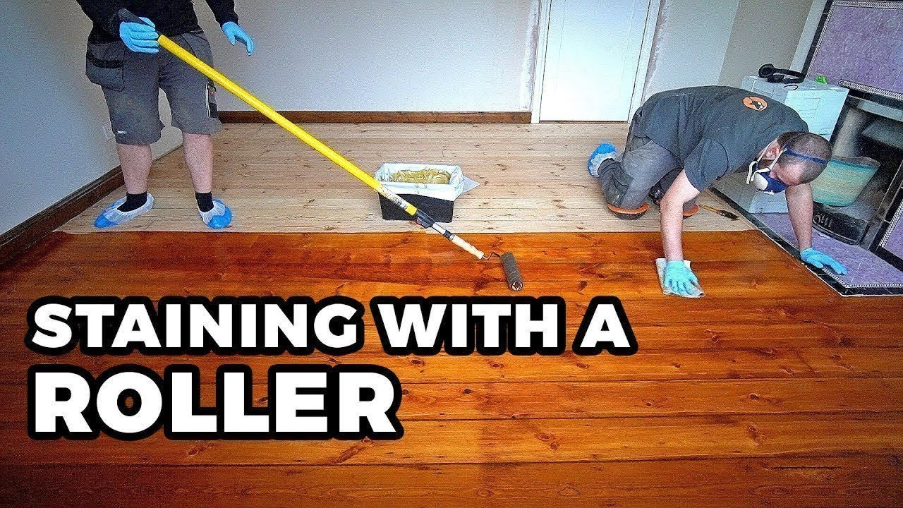 Staining Wood Floors With A Roller Cheat For Professionals Youtube