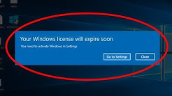 "How to fix ""your windows license will expire soon"" on  windows 10"