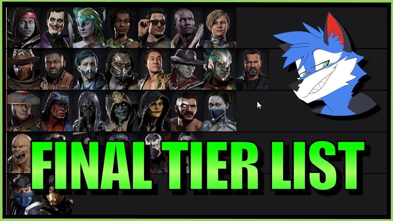SonicFox -  My Final MK11 Character Tier List【Mortal Kombat 11】