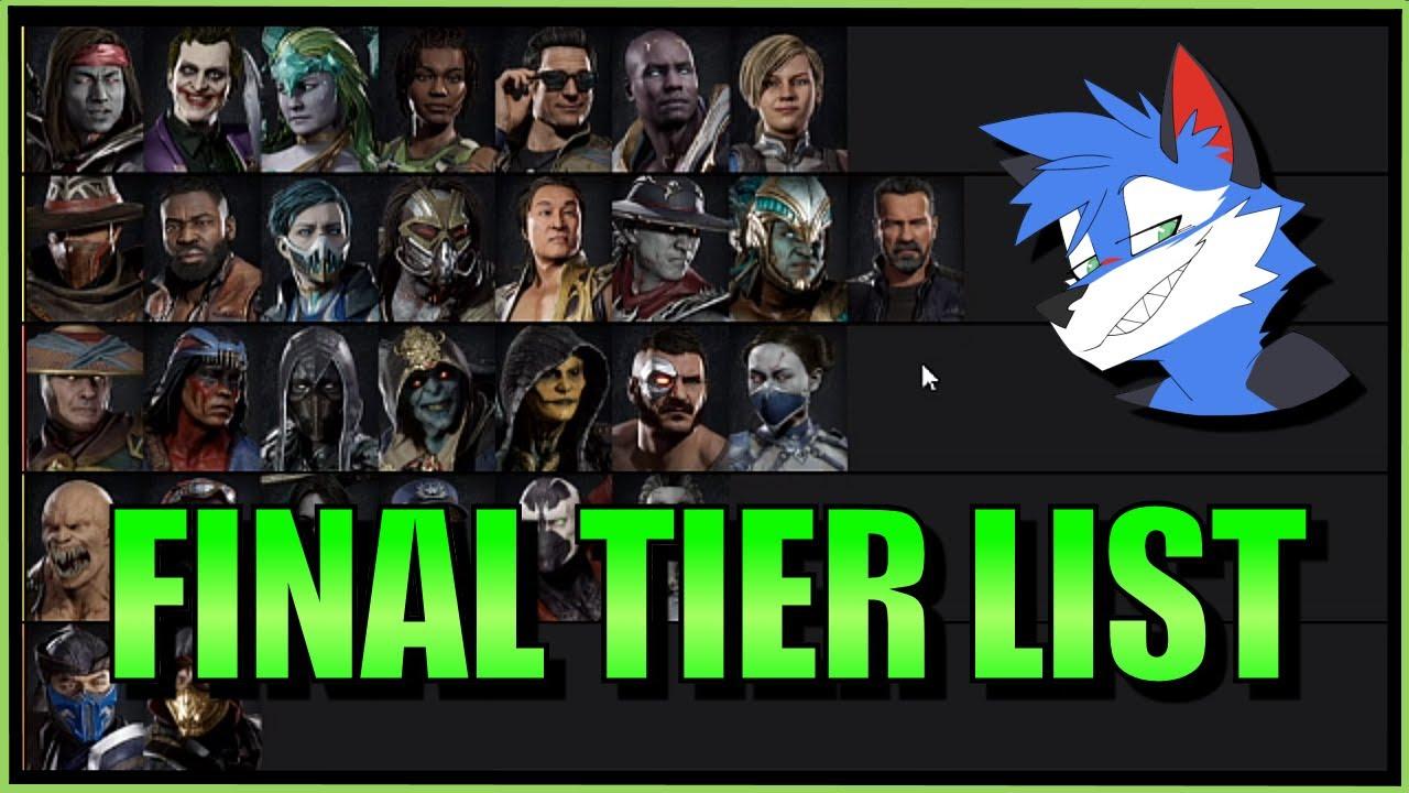 Sonicfox My Final Mk11 Character Tier List Mortal Kombat 11 Youtube
