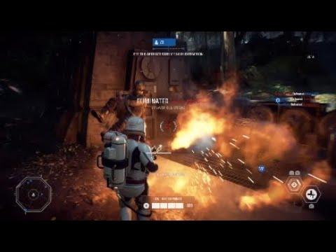 Star Wars Battlefront 2 INSANE First Order Flametrooper killstreak