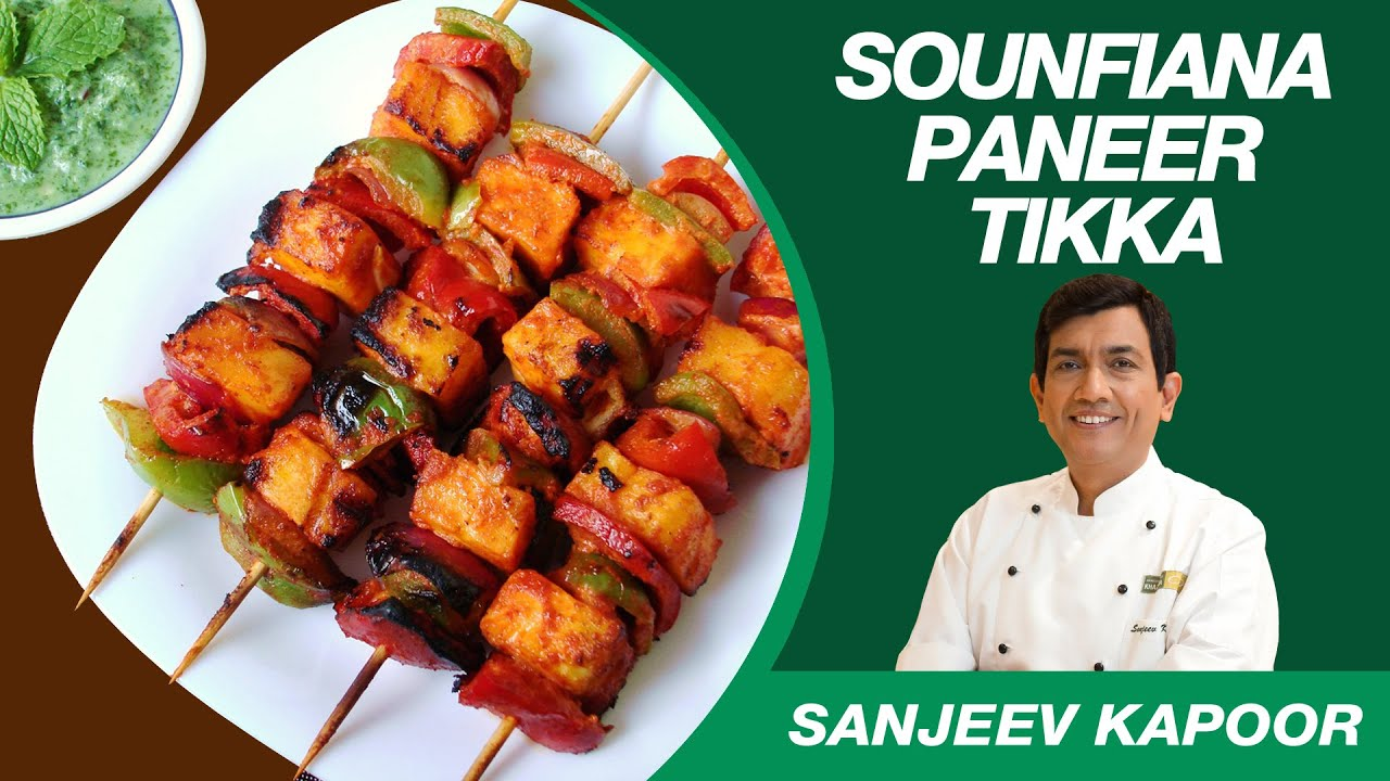 Paneer Tikka Sounfiana Dry Recipe From Sanjeev Kapoor S Kitchen Youtube