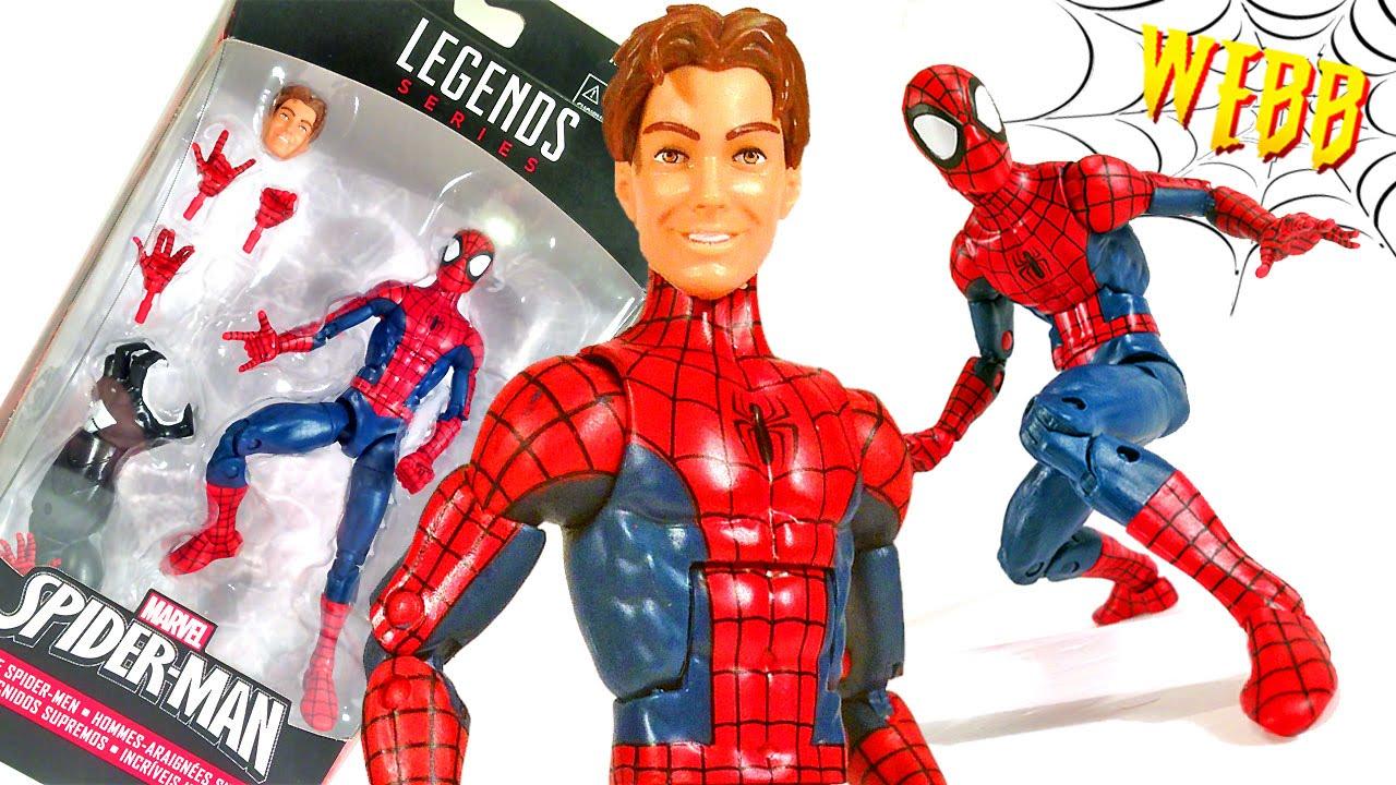 Marvel Legends Peter Parker Ultimate Spider Man Action Figure Review Youtube