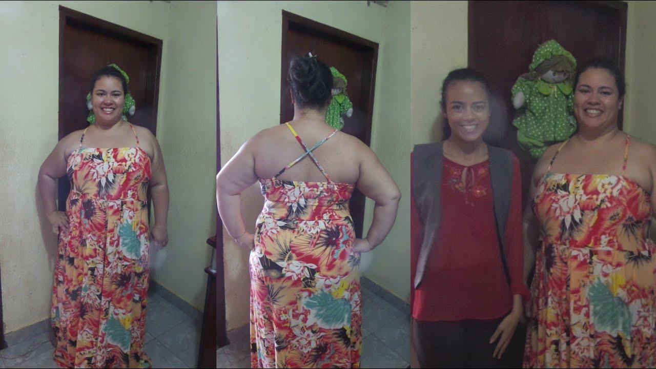 Como fazer vestido longo para gordas