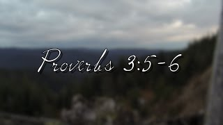 "Daily Bible Verse - Proverbs 3:5-6  ""Trust In The Lord...""  2"