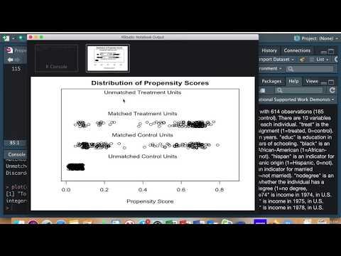 Propensity Score Matching En R