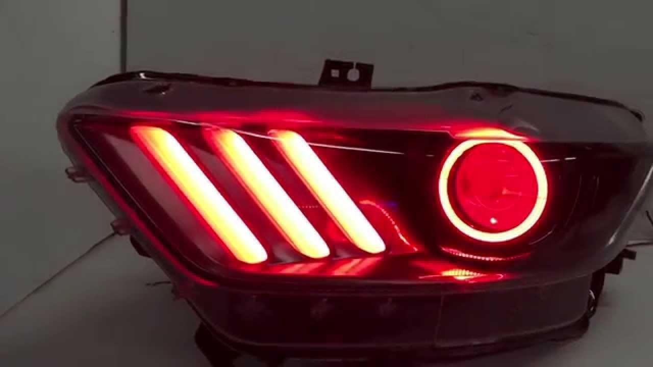 2015 Ford Mustang Custom Headlights Color Changing Leds Demon Eye