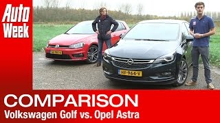 Volkswagen Golf vs. Opel Astra (2016) AutoWeek review