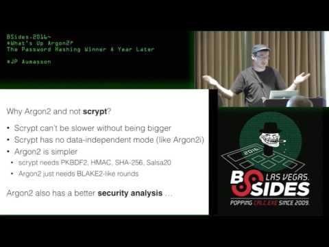 What's Up Argon2? The Password Hashing Winner A Year Later - JP Aumasson