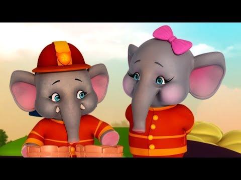 नन्हा हाथी, नन्हा हाथी Hathi Rhyme | Hindi Rhymes for Children | Infobells