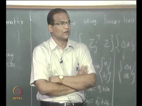 Mod-01 Lec-20 Non-linear Regression (Gauss - Newton Algorithm)