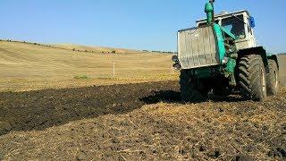 первый день пахоты на Т-150к. пробуем пахать /Moldova