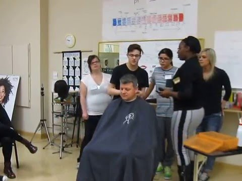 Lakeville High School Students doing a Clipper cut