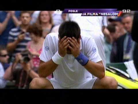 Novak Djokovic - Rafael Nadal finale Vimbldona 2011 (poslednji poen)