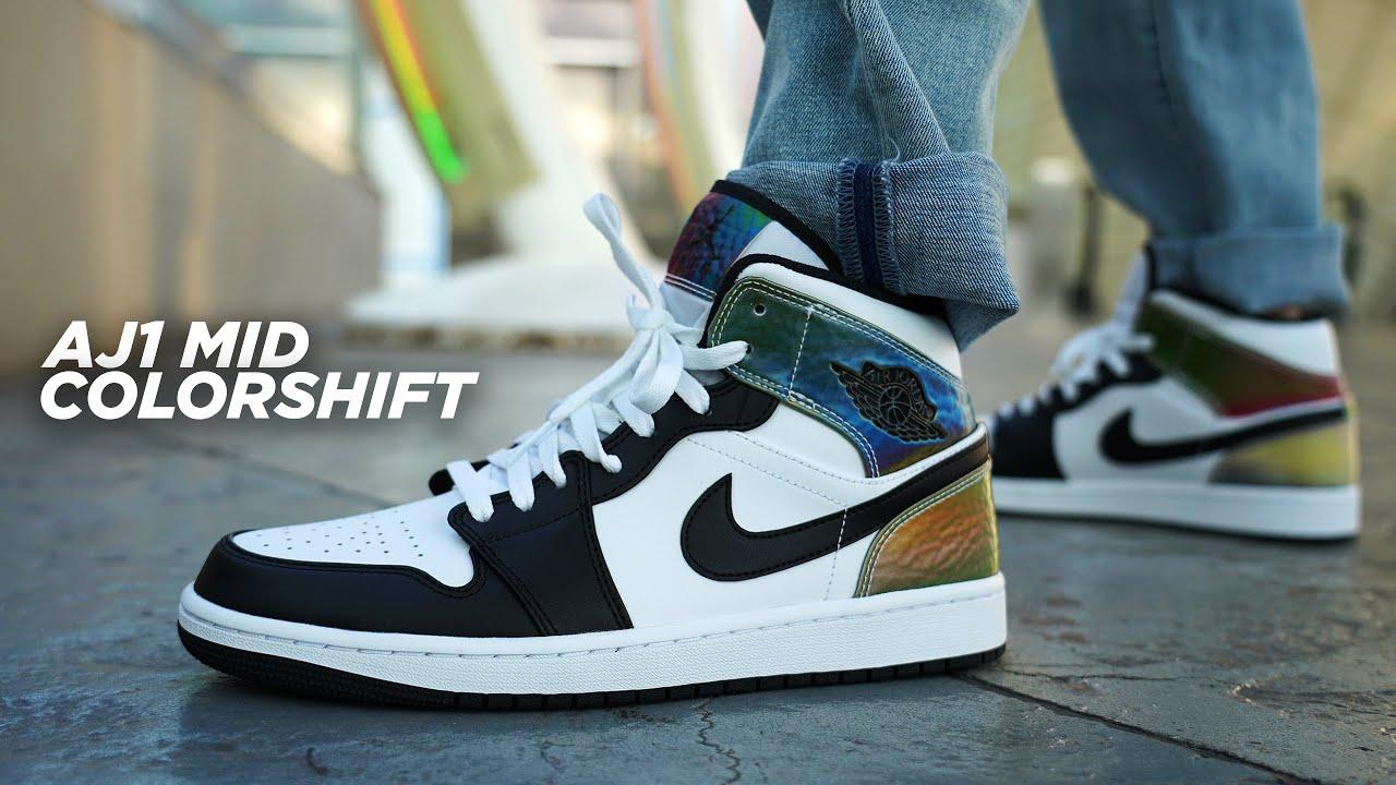 COLOR CHANGING Jordan 1s?! Air Jordan 1 Mid SE Color Shift REVIEW