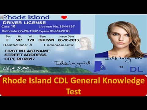Rhode Island CDL General Knowledge Test