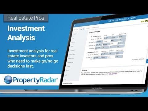 Investment Analysis Using PropertyRadar